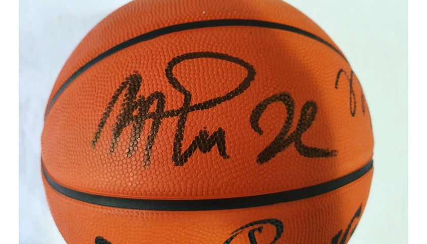 Official Spalding Basketball - Signed by Jordan and Magic Johnson