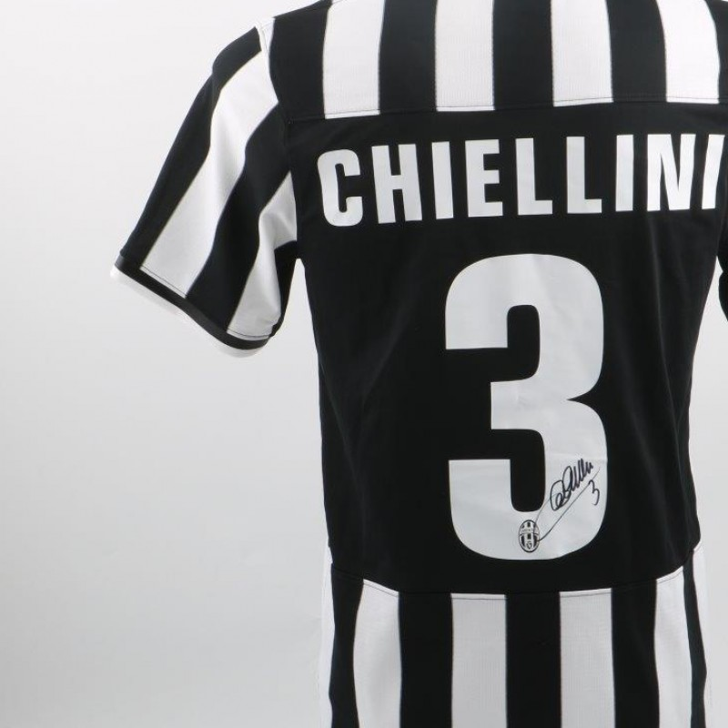 Chiellini Official Replica Juventus shirt - Serie A 2013-2014 - signed