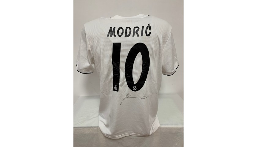 Modric's Official Real Madrid Signed Shirt, 2018/19