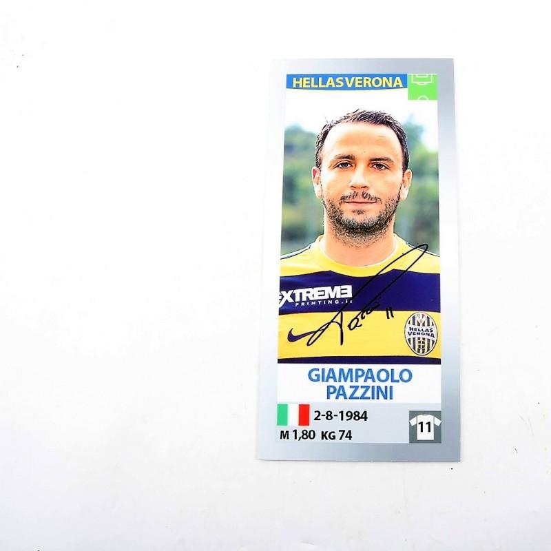 Giampaolo Pazzini, Limited Edition Box and Signed Panini Maxi Sticker