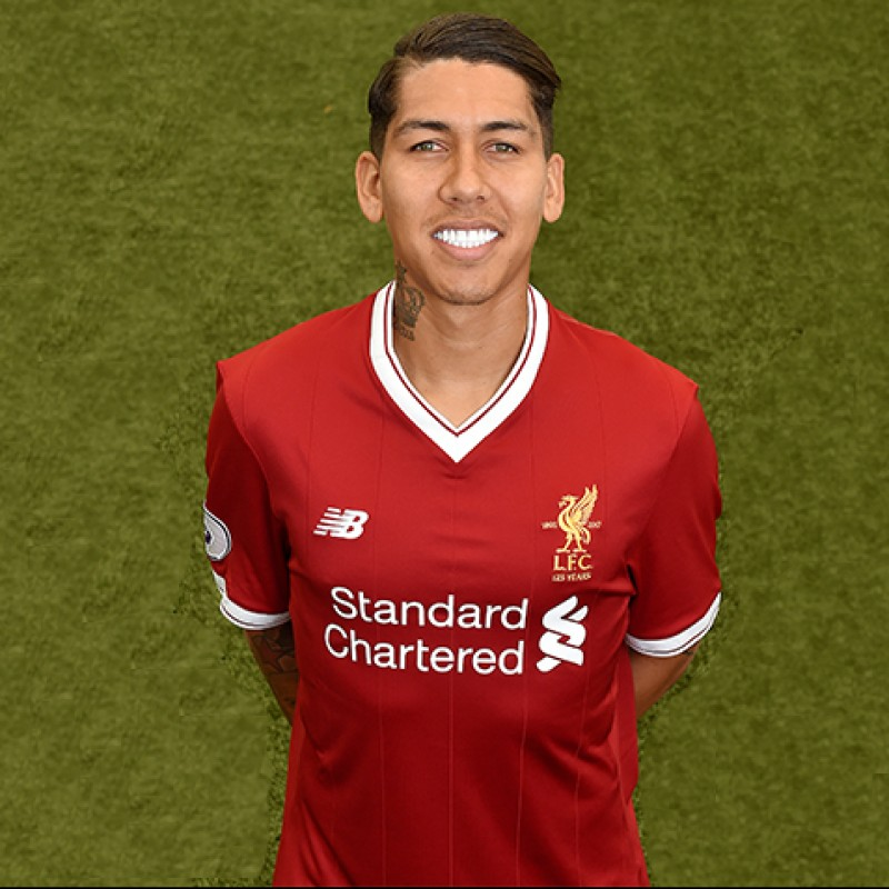 Roberto Firmino s Worn and Signed Limited Edition  Seeing is Believing   17 18 Liverpool 71da5b2cd