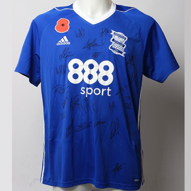 Poppy Shirt Signed by Birmingham City F.C.