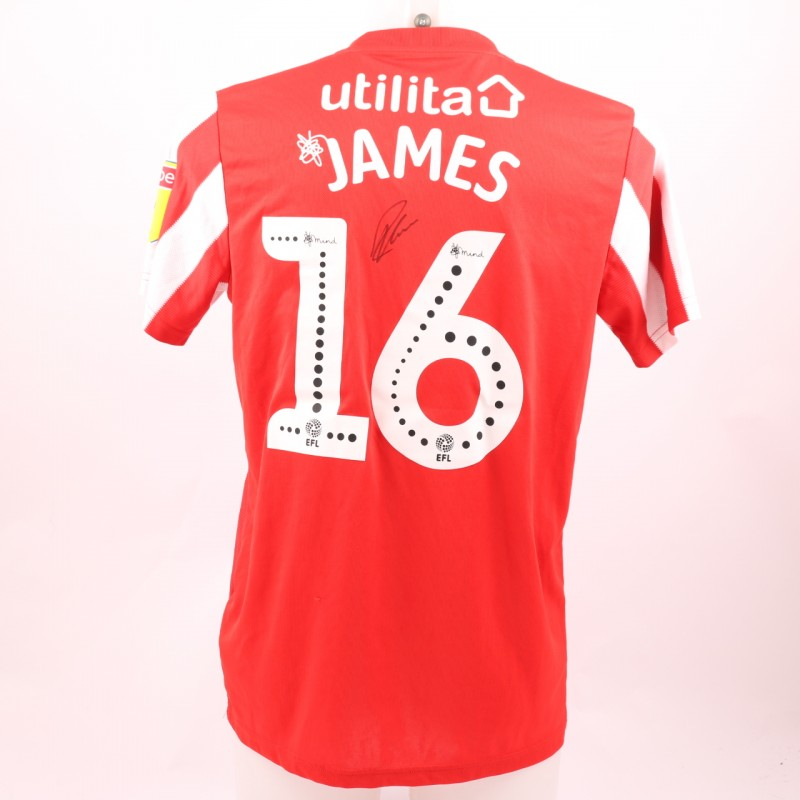 James's Sunderland AFC Worn and Signed Poppy Shirt