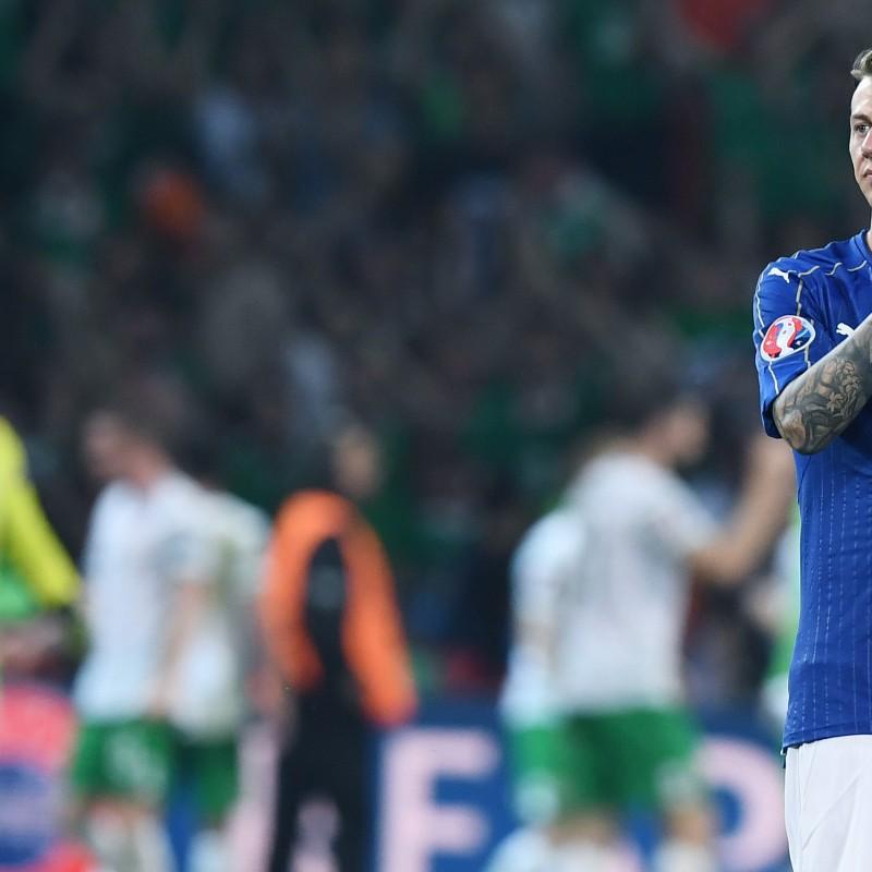 Bernardeschi Match issued/worn Shirt, Italy-Germany 15/11/2016