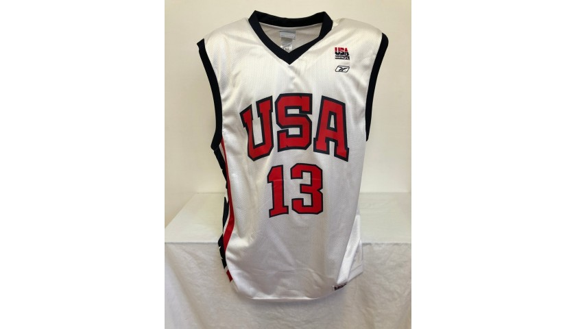 Tim Duncan's Official USA 1998 Signed Jersey