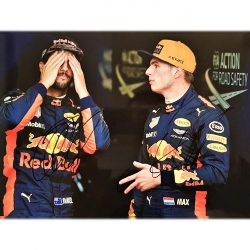 Fotografia autografata da Verstappen and Ricciardo