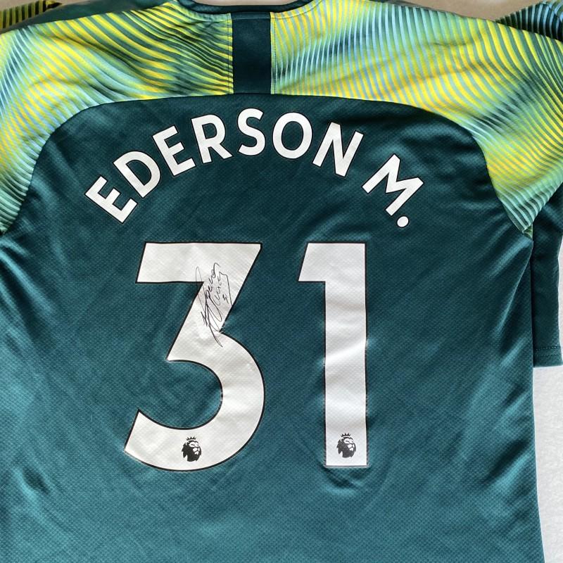 Ederson's Manchester City Signed Goalkeeping Shirt
