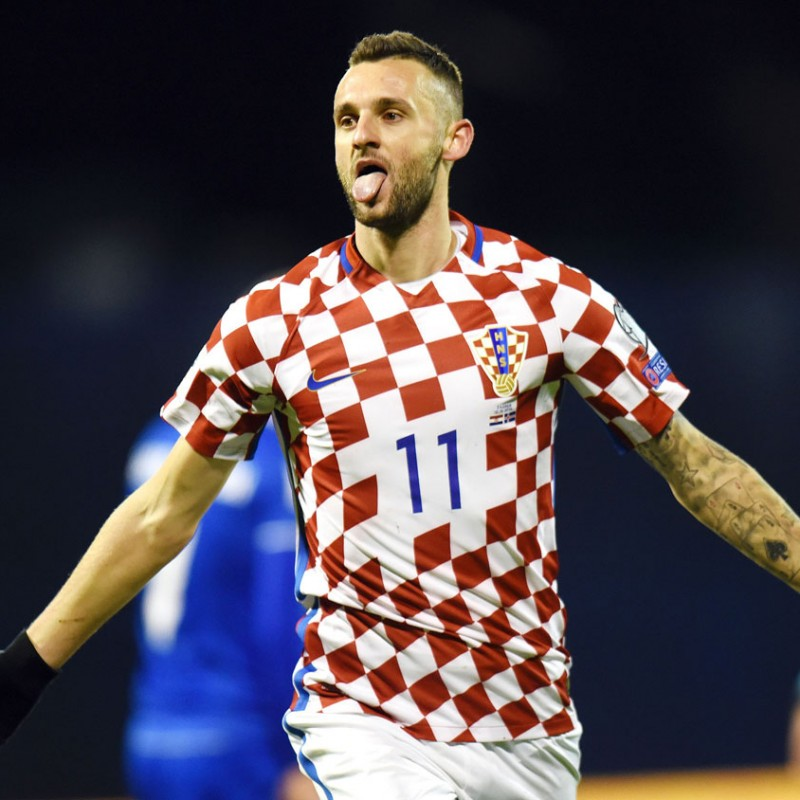 Brozovic's Worn Shirt Croatia-Iceland 2016 - UNWASHED