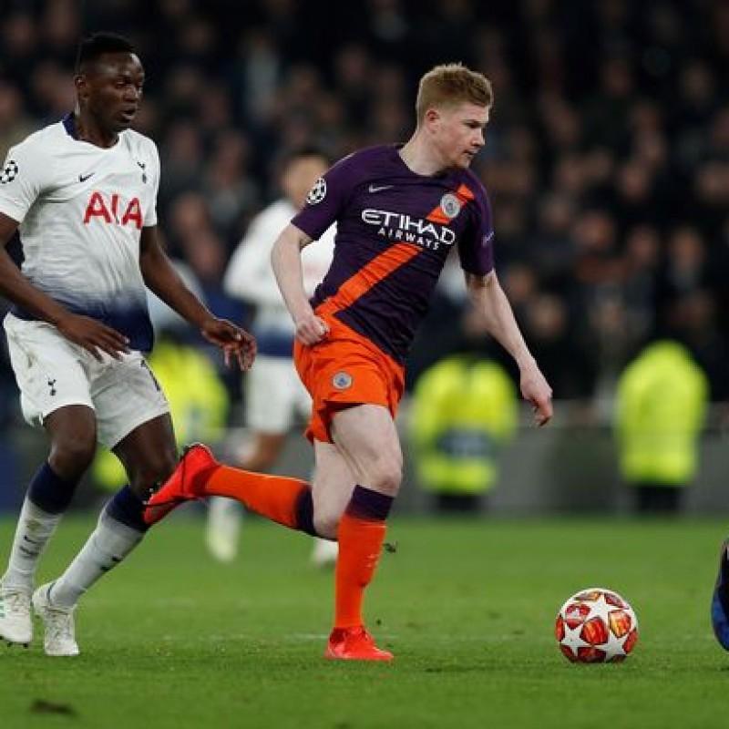 De Bruyne's Manchester City Match Shorts, Champions League 2018/19