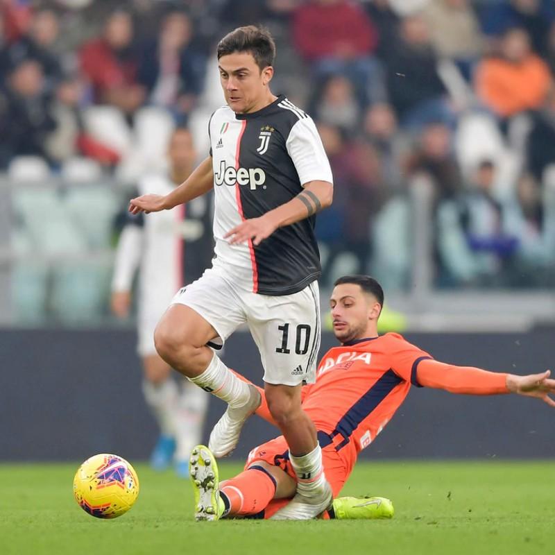 Dybala's Worn Shirt, Juventus-Udinese 2019 - Unwashed