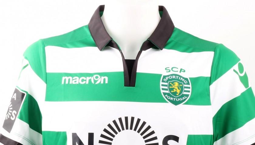 Bruno Cesar Match Worn Shirt, Estoril-Sporting CP 25/02/2017