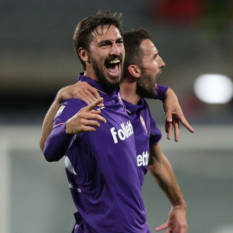 Astori's Match-Issued Fiorentina Shirt, Serie A 2016/17