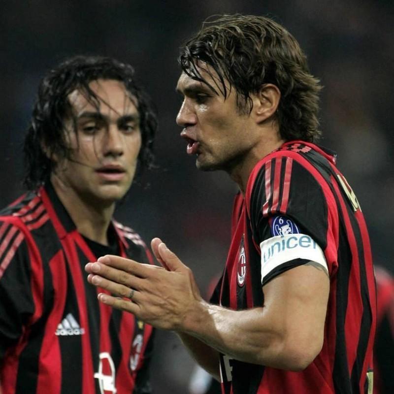 Maldini's Match-Worn Milan Shirt,  2005/06 UCL