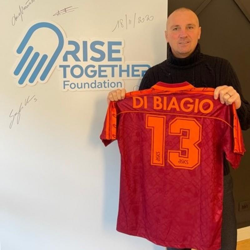 Di Biagio's Roma Worn Shirt, 1995/96