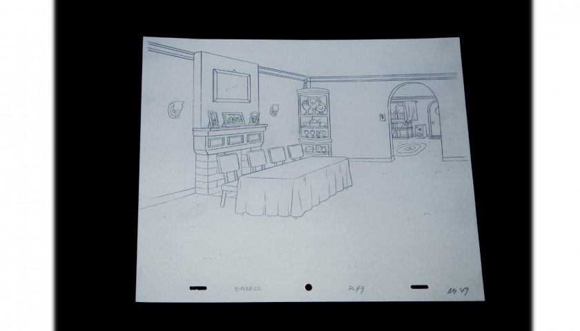 The Simpsons - Original Drawing of the Simpsons' Home
