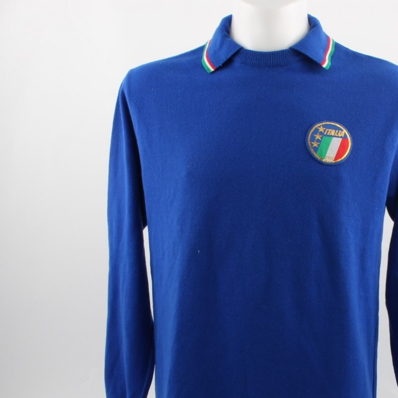 Match worn Collovati shirt, Italy-Portugal friendly match 4/3/1985