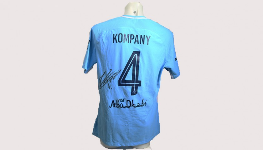 best loved 30c78 bb3d1 Vincent Kompany Match-Worn Signed Manchester Derby Shirt - CharityStars