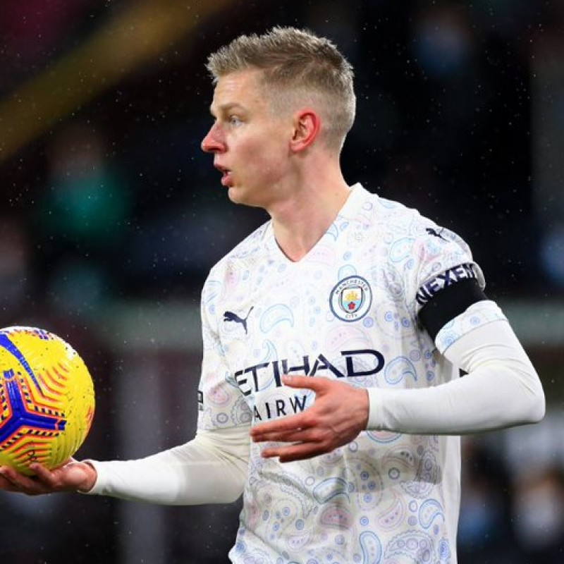 Zinchenko's Man City Match-Issued Signed Shirt