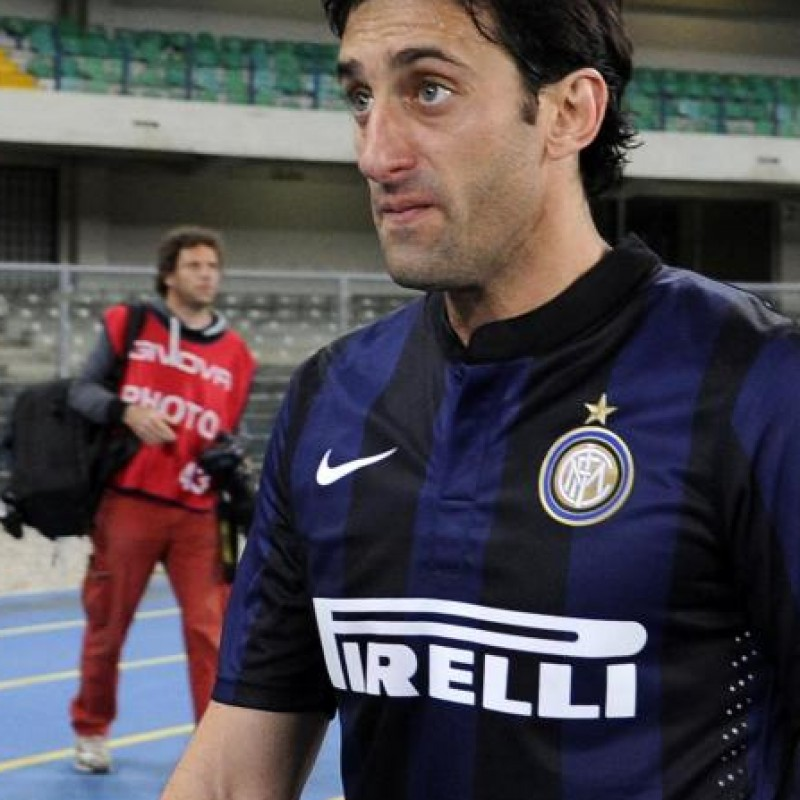 The last Diego Milito match shirt used with Inter