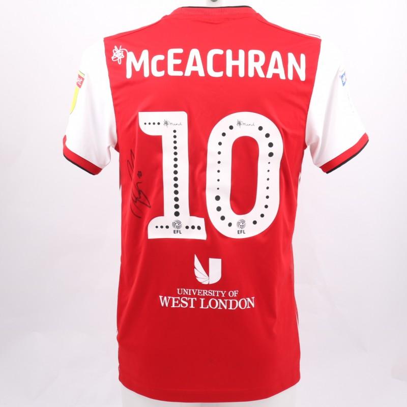 McEachran's Brentford Worn and Signed Poppy Shirt