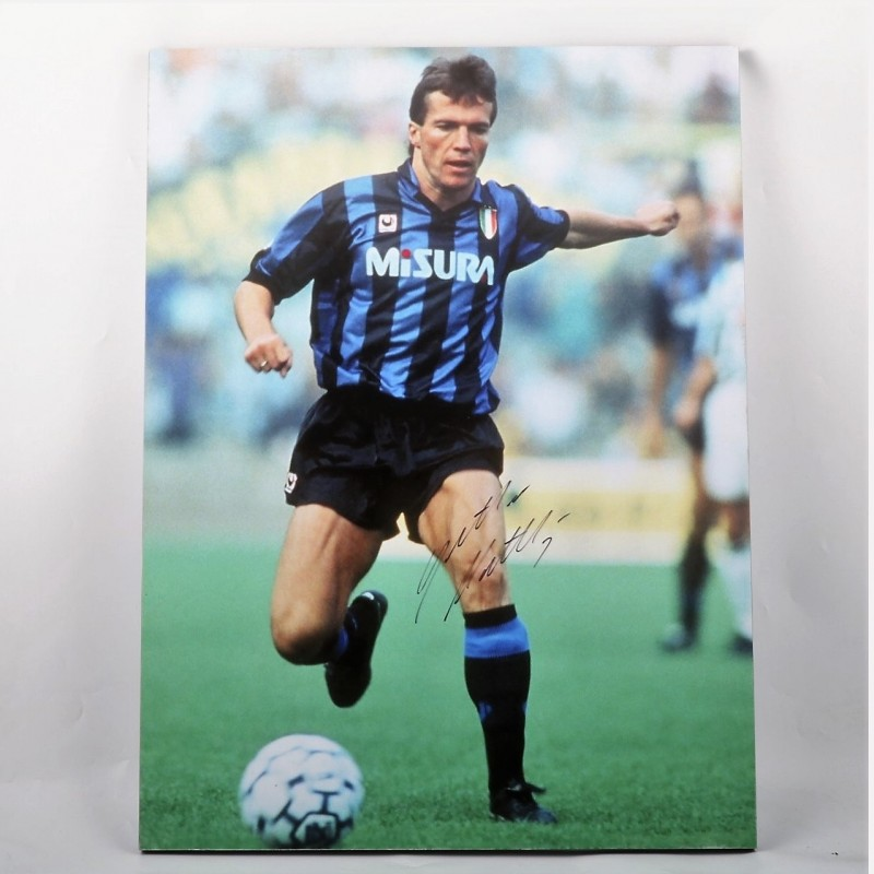 Signed Maxi-Photo of Matthäus, Internazionale FC