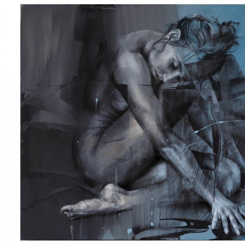 "Pier Toffoletti ""Body Splash 12-1116"" original graphic art on paper 50x70 cm"