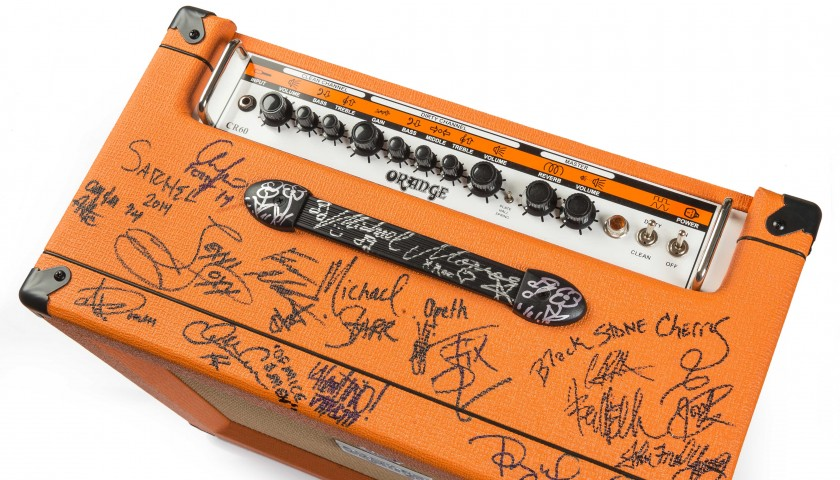 Orange amplifier signed by Opeth, David Prowse, Chris Jericho & more