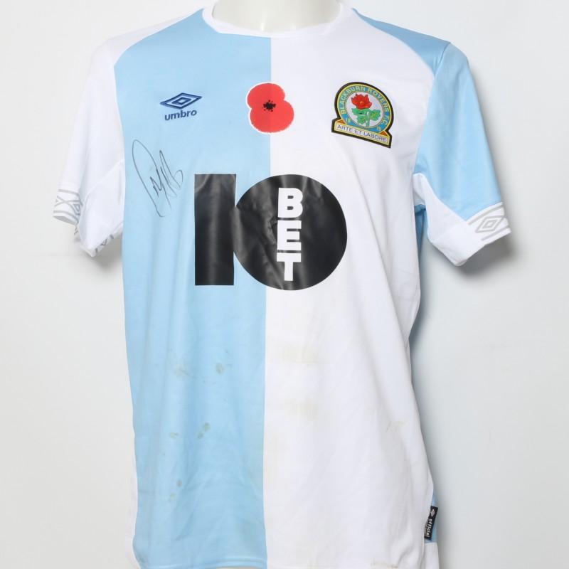 Darragh Lenihan's Match-Worn Blackburn Rovers Signed Poppy Home Shirt