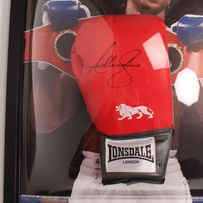 Anthony Joshua Signed and Framed Glove & Photo
