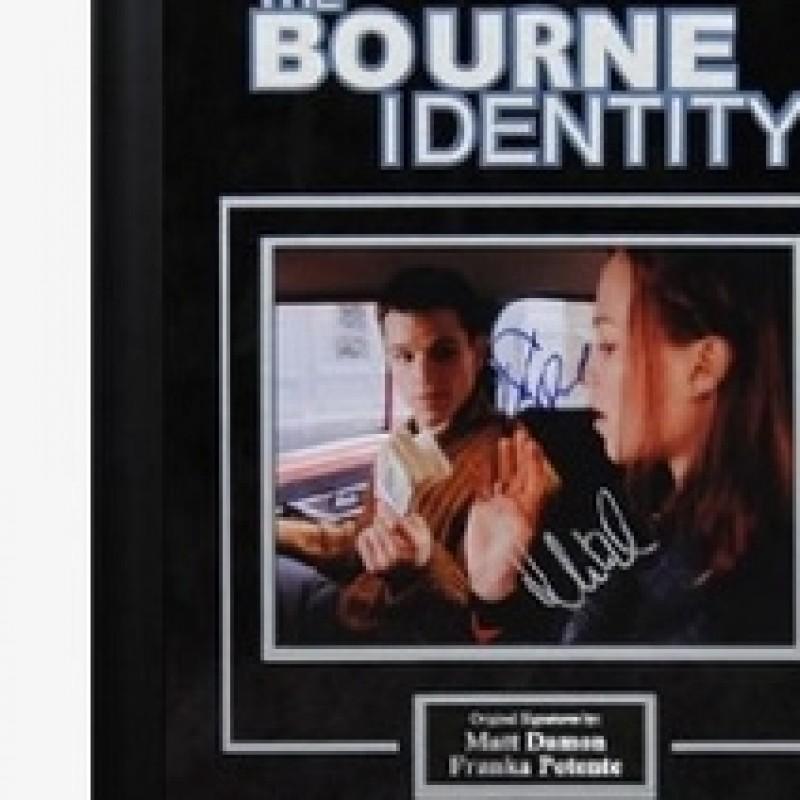 """The Bourne Identity"" photo signed by Matt Damon and Franka Potente"