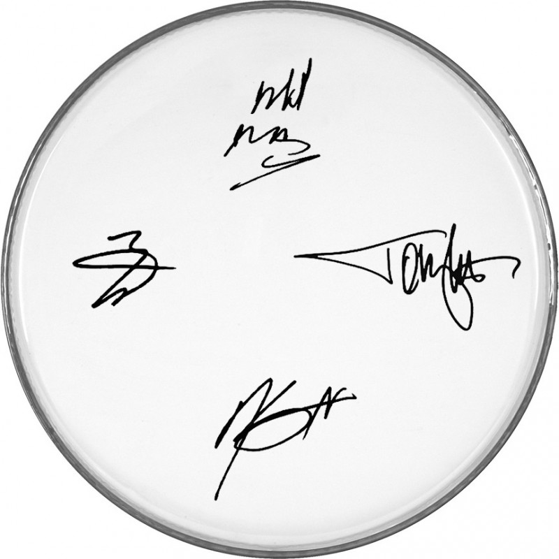 Motley Crue Drumhead with Printed Signatures