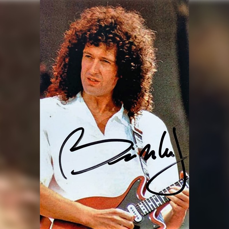 Brian May Signed Photograph