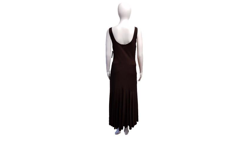 """Ralph Lauren """"Beatrice"""" Brown Jersey Dress"""