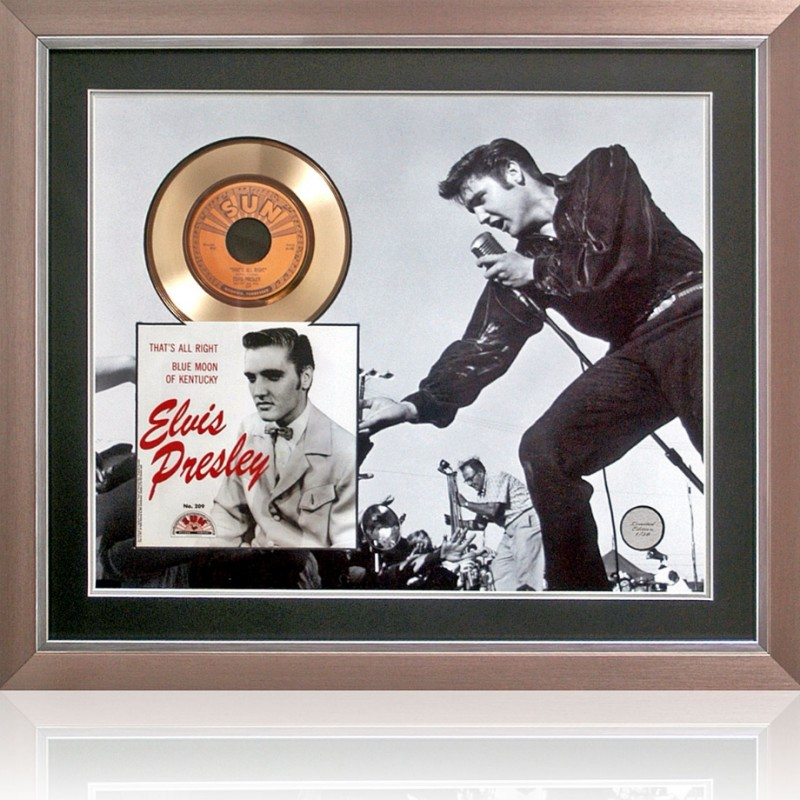 Elvis Presley Limited Edition Gold Disc Presentation