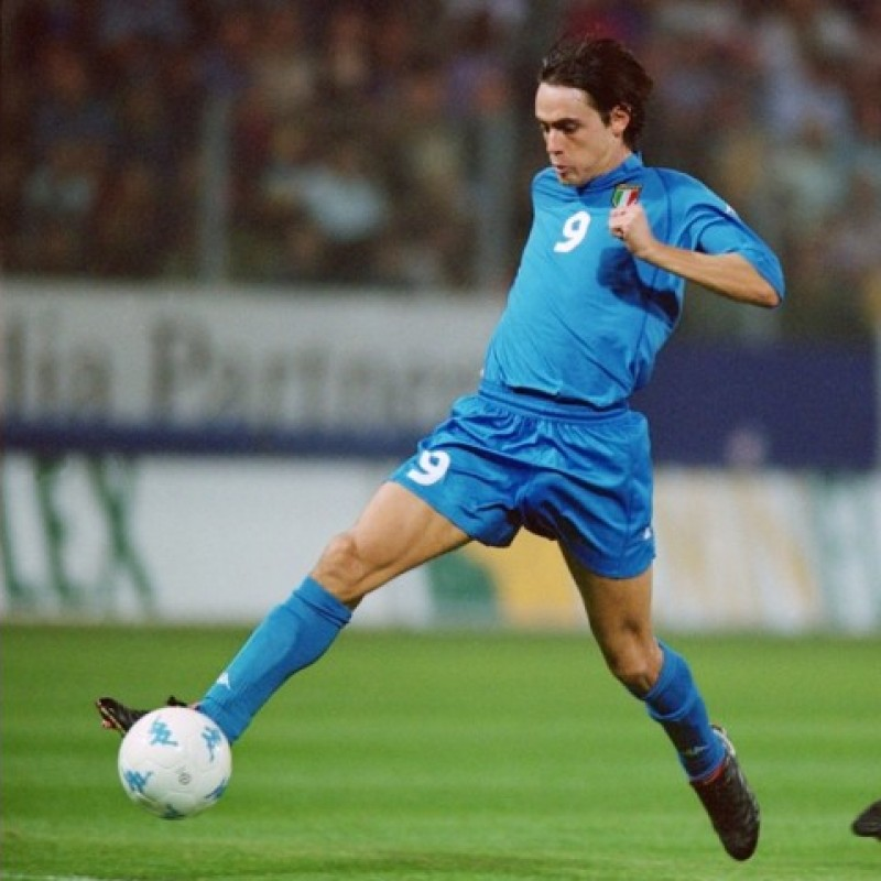 Inzaghi's Italy Match Shirt, 2002 Season