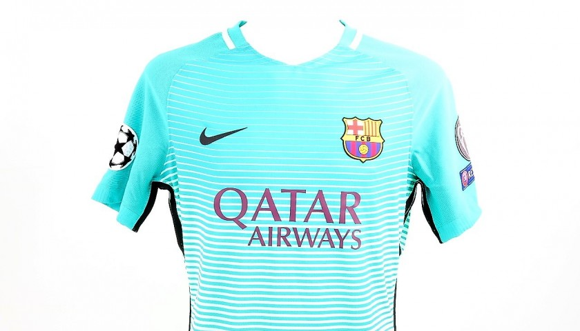 new product 333d7 1a32b Messi Match-Issued/Worn Shirt, CL 2016/17 - CharityStars
