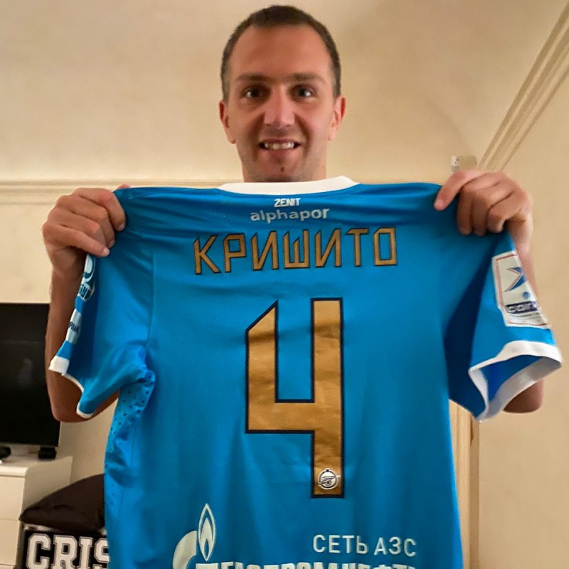 Criscito's Zenit Worn and Signed Shirt, 2011/12