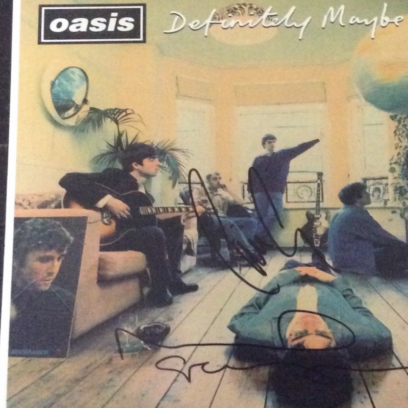 "Oasis ""Definately Maybe"" Vinyl Signed by Noel and Liam Gallagher"