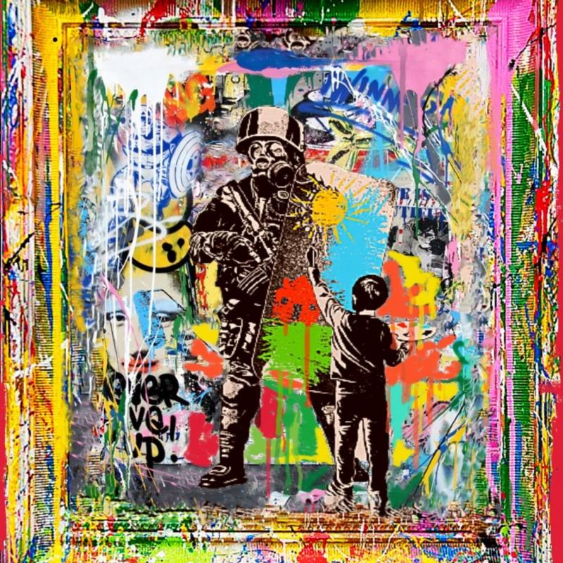 """Child against war vs Banksy"" by Mr Ogart"