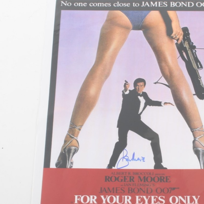 James Bond For Your Eyes Only Poster Signed by Roger Moore