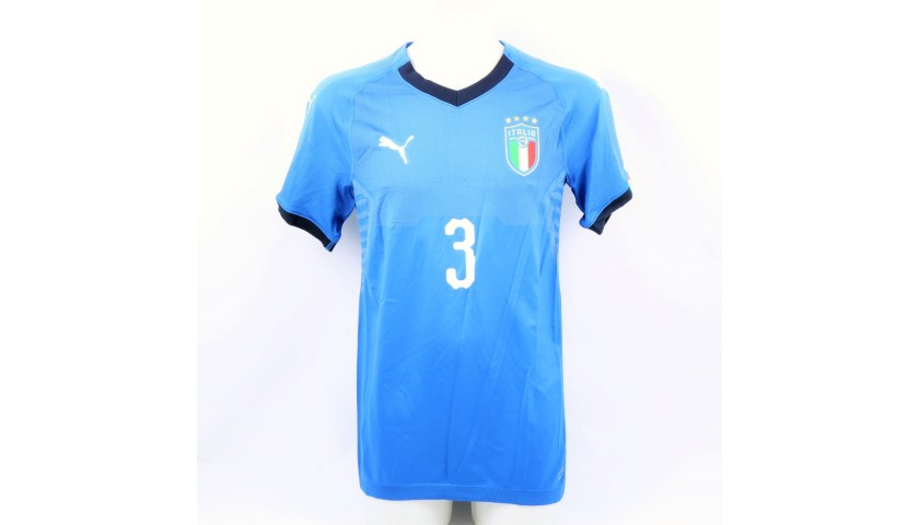 Chiellini's Authentic Italy Signed Shirt
