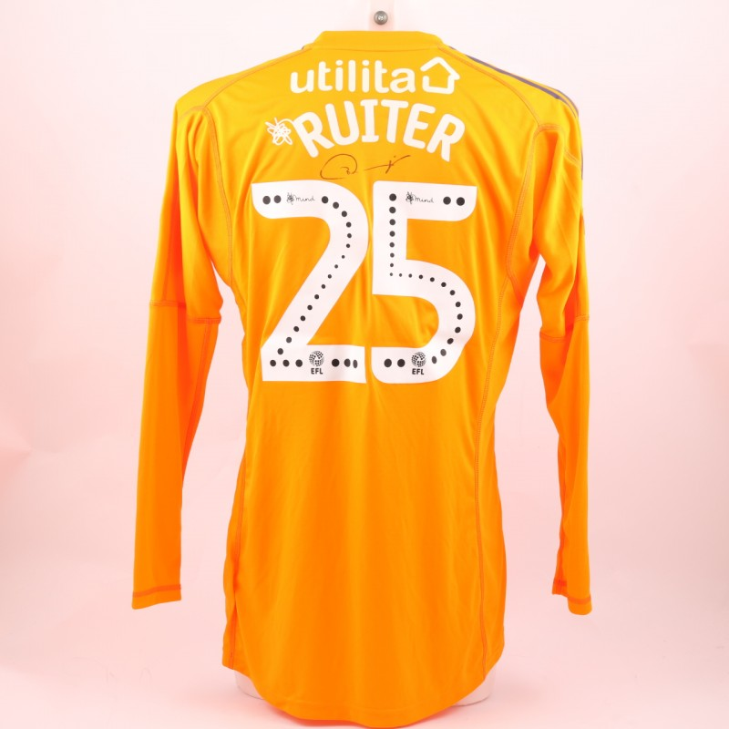 Ruiter's Sunderland AFC Worn and Signed Poppy Shirt
