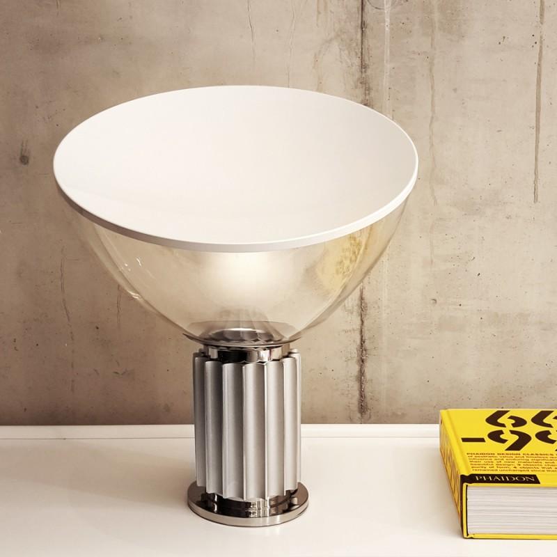 "Small Silver Flos ""Taccia"" Lamp"