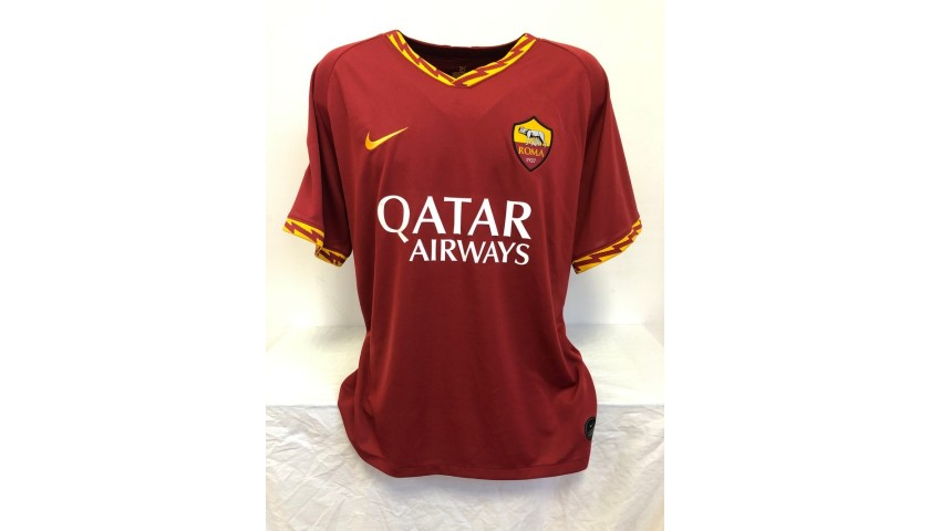 Carles Perez's Official Roma Signed Shirt, 2019/20