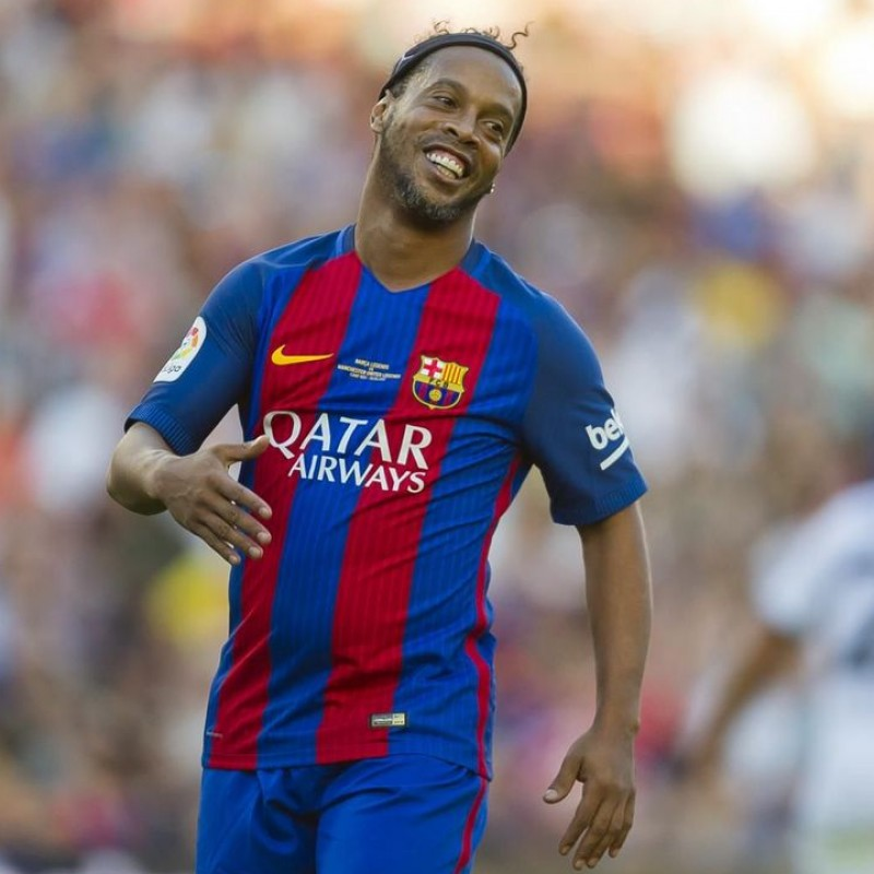 Ronaldinho's FC Barcelona Signed Shirt