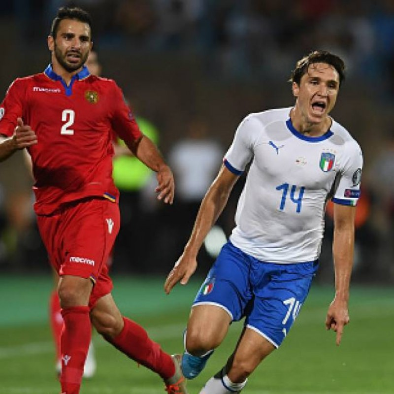 Chiesa's Match Shirt, Armenia-Italy 2019