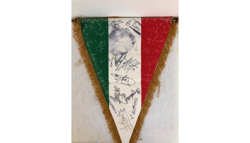 Official Lazio Pennant - Signed by the Players