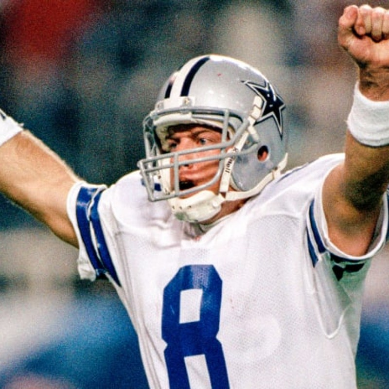 Troy Aikman Signed Rookie Card