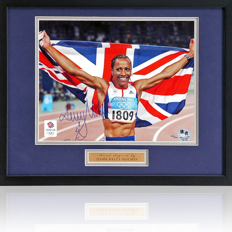 Kelly Holmes Signed Olympic Games Photograph
