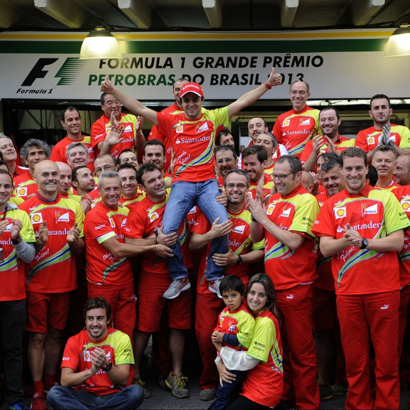 Special Celebratory T-shirt for Massa's Last Ferrari Race, Brazil 2013